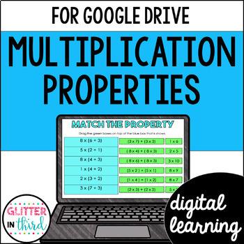 Properties of Multiplication for Math Google Drive & Google Classroom