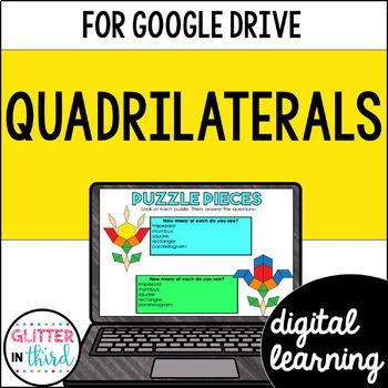 Quadrilaterals for Google Classroom DIGITAL