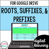 Roots, Prefixes, & Suffixes ELA Digital Activities Google Classroom & Drive