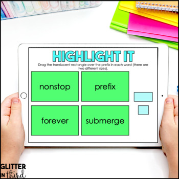 Root words, Prefixes, and Suffixes for Google Classroom DIGITAL