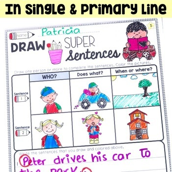 Sentence Writing for Valentine's Day and Sentence Building
