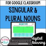Singular & Plural Nouns for Google Drive & Google Classroom
