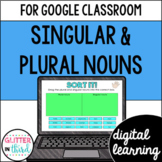 Google Classroom Digital Grammar Singular and Plural Nouns
