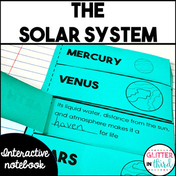 Solar system and planets Interactive Notebook