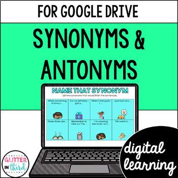 Google Drive & Google Classroom: Synonyms & Antonyms