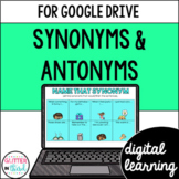 Synonyms & Antonyms for Google Classroom DIGITAL