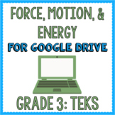 TEKS Grade 3 Force, Motion, & Energy for Google Drive & Google Classroom