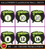 Halloween Classroom Decoration / Wall. Numbers 1-20