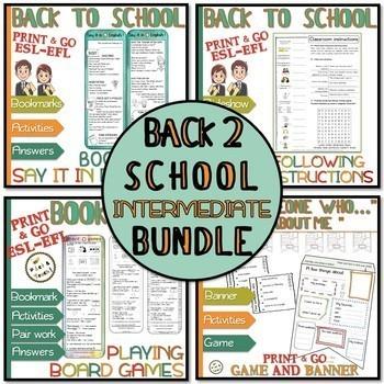 Back to school BUNDLE - ESL - Intermediate