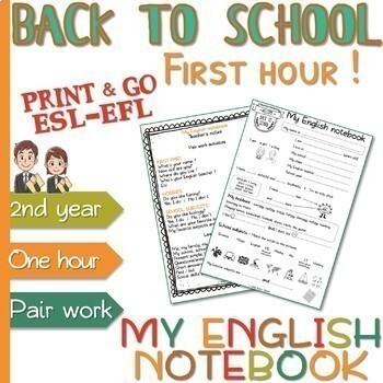 Back to school BUNDLE - ESL - Pre-intermediate