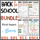 Back to school BUNDLE for the first 4 hours - ESL Pre-intermediate