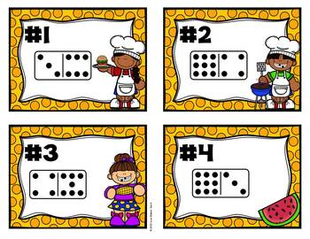 Fact Families - Summer Themed Domino Task Cards