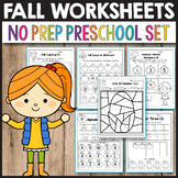 First day of Fall Activity for Preschool Curriculum Tracing Shapes