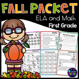 Fall Activities for First  Grade Math Worksheets and Liter