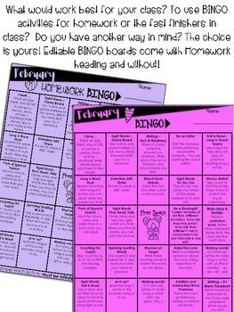 February Bingo > Printables for month & EDITABLE Bingo
