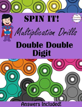 Fidget Spinners Timed Multiplication Tests Quizes Double DOUBLE Digit