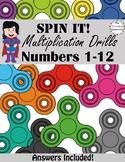 Multiplication Worksheets  -  Numbers 1-12