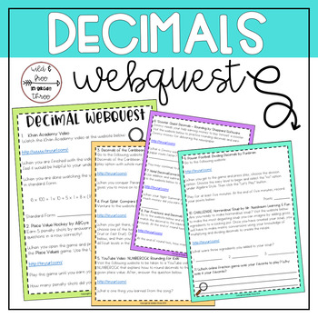 Decimals WebQuest