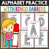 Find The Letter Alphabet Worksheets - Bingo Dabber Activities