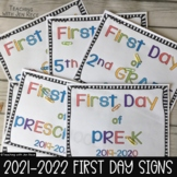 Back to School - First Day of School Signs