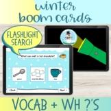 Flashlight Search I Spy Winter Vocabulary Boom Cards™