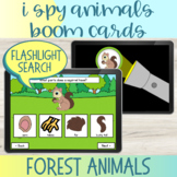 Flashlight Search I Spy Forest Animals Vocabulary Boom Cards™