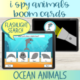 Flashlight Search I Spy Ocean Animals Vocabulary Boom Cards™