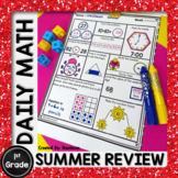 First Grade Summer Math Packet Morning Work   End of the Year MATH Review