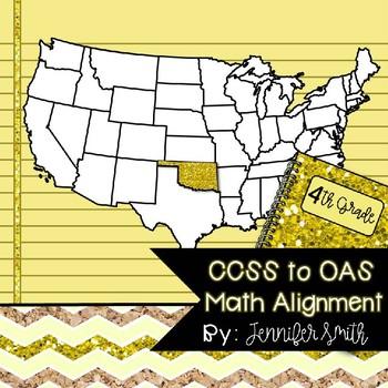 FREEBIE Fourth Grade Oklahoma Academic Standards Math Alignment
