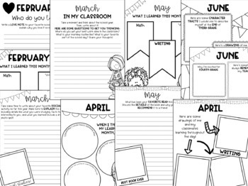 Fourth Grade Monthly Reflection and Memory Book