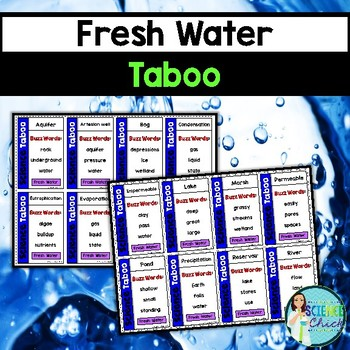 Fresh Water Vocabulary Review Game