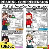 BUNDLE: Reading Comprehension Cut & Paste Passages Distance Learning