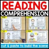 BUNDLE: Reading Comprehension Cut & Paste Passages Distanc
