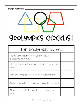 Geolympic Games: A Kinesthetic Geometry Activity