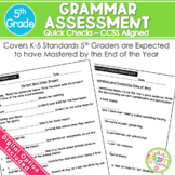 5th Grade Grammar Assessment | Weekly Tests | Standard Bas