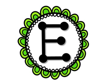 Green Scalloped Banner Kit - Letters, Numbers and Symbols