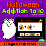 Halloween Addition Facts to 10 Boom Cards™ Counting to 10 - ABA