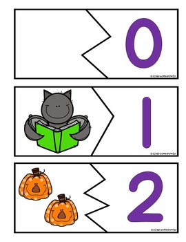 Halloween Counting Puzzle Center