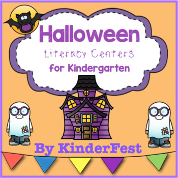 Halloween Literacy Centers for Kindergarten
