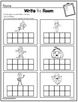 Halloween Math Centers for Kindergarten