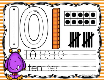 Halloween Number Writing Mats