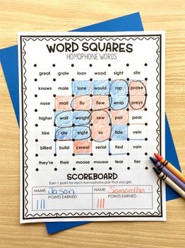 Homophones - Word Squares Game
