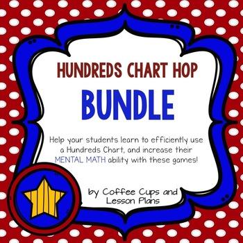 Hundreds Board or Mental Math Task Cards Game BUNDLE