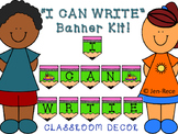 I CAN WRITE Banner Kit - LIME GREEN and PINK PENCILS