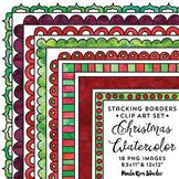 Christmas Stacking Border Clip Art