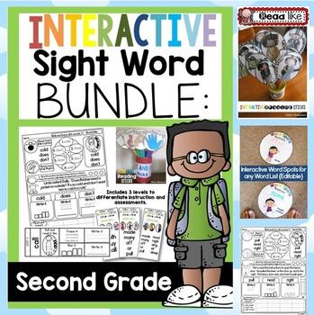 Interactive Sight Word BUNDLE SECOND GRADE