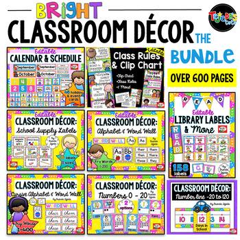 Bright Classroom Decor Bundle