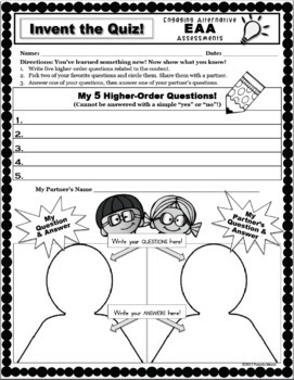 Assessment Strategies! EAA - Engaging Alternative Assessments for Ages 9-11!