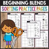 L Blends Worksheets, S Blends Activities - Sorting Practice