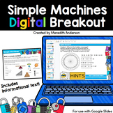 Simple Machines Activities - Digital Breakout Distance Learning